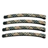 Hårnålar khaki med tartanrutor
