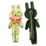 Hårklämma barn blommig kanin