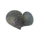 Hårspänne hjärtformat med strass