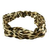 Hårband med leopardmönster