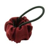 Hair cuff rödveckat tyg