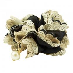Scrunchie med pärla