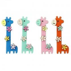 Hårklämmor raka giraffer med blommor