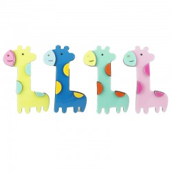 Hårklämmor böjda giraffer med halvcirklar