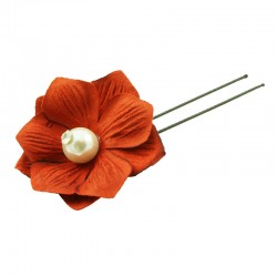 Hårnål blomma med pärla 2-pack