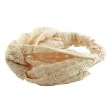 Hårband vikta sömmar med knut