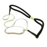 Hårband vit metallband