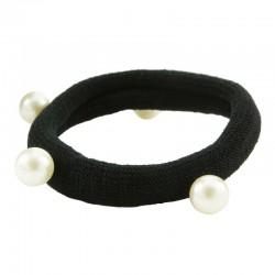 Hårsnodd elastan med pärlor 2-pack