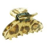 Akrylklämma leopardmönster Medium