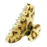 Akrylklämma leopardmönster Small
