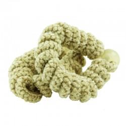 Spiralformade hårsnoddar polyester