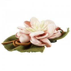 Hårklämma blomma med tygblad