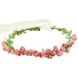Blomsterkrans små rosor med band