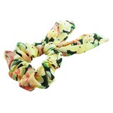 Scrunchie blommor med kaninöron
