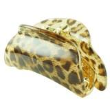 Akrylklämma leopardmönster