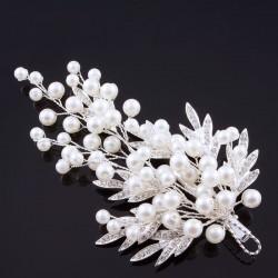 Hårdekoration pärlor med strassblad