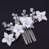 Hårkam vita frangipani blommor