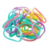 Gummisnoddar pastellfärger 30-pack Small
