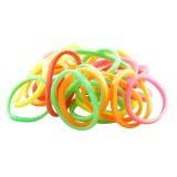 Gummisnoddar neonfärger 30-pack Small