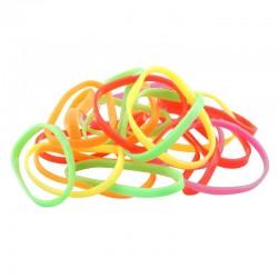 Gummisnoddar neonfärger 20-pack Large