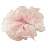Hårband barn organza blomma med strass