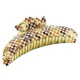 Hårklämma liljor med strass rutor XL