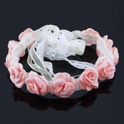 Spets- och satinband med rosor