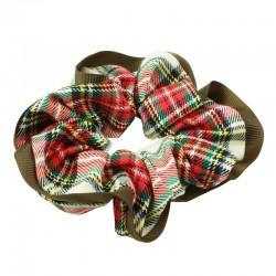 Scrunchie med skotskrutor