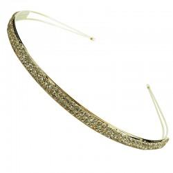 Metalldiadem med strassband