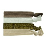 Ribbon brun/silver/guld/beige