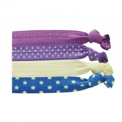 Ribbons violett/lila/elfenben/blå
