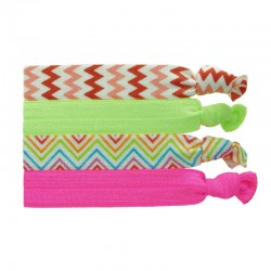 Ribbons vit/lime/vit/cerise