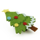 Hårklämma pyntad julgran