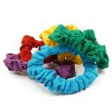 Scrunchies pastellfärgade 5-pack
