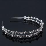 Diadem två strassband med kristaller