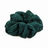 Scrunchie djupgrön plissé