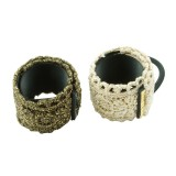 Hair cuffs vintage med brokad