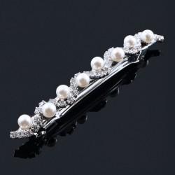 Hårspänne slingrig strass med pärlor